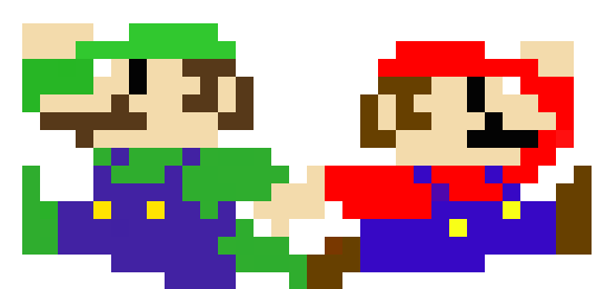 mario_and_luigi_pixels__c__by_gingerpowersactivate-d4so41b